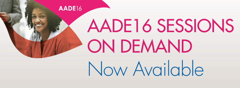 AADE16 Session on Demand