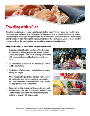 A travel plan for healthy eating tip sheet