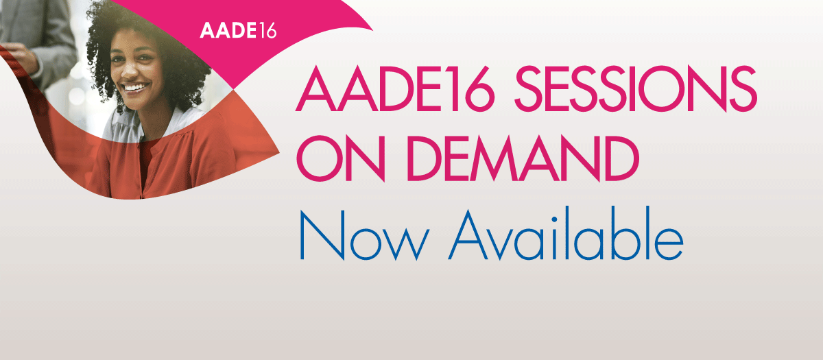 AADE16 Sessions On Demand Now Available