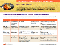 Dietary Supplements for Glycemic and Cholesterol Management Tip Sheet