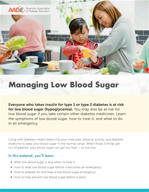 managing low blood sugar