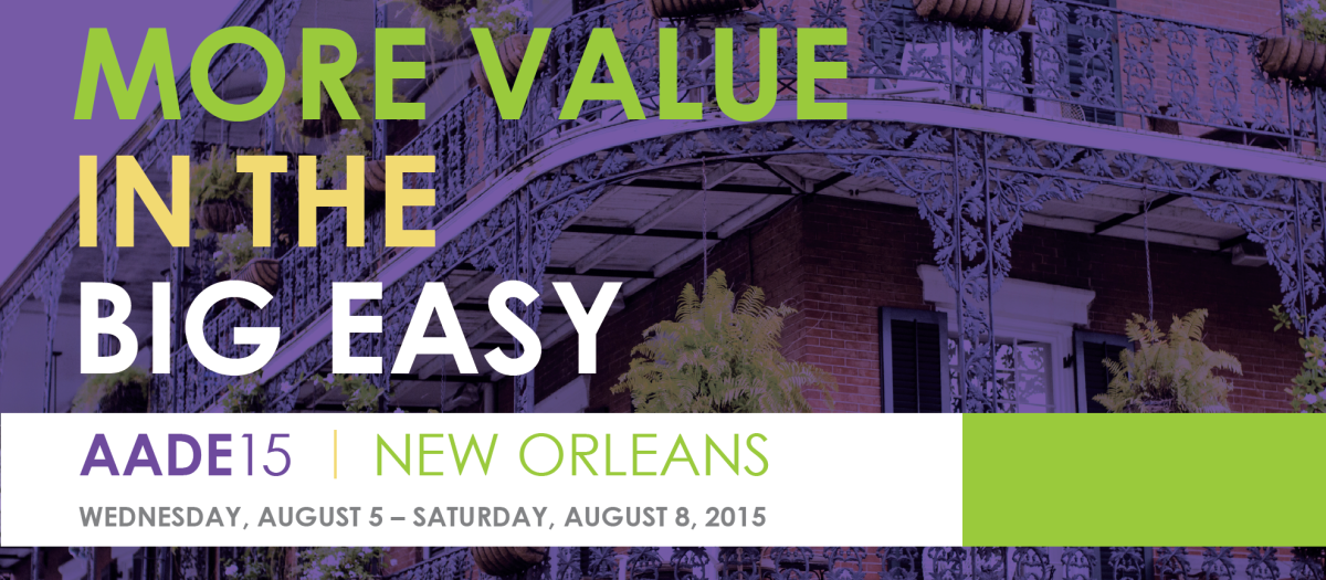 Register for AADE15