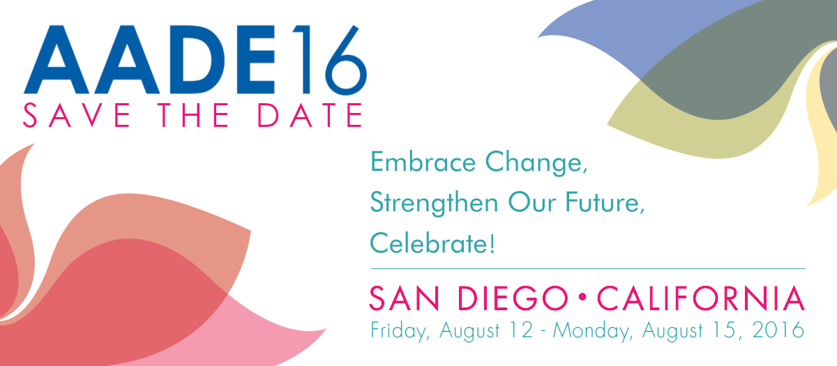 Save the Date for AADE16