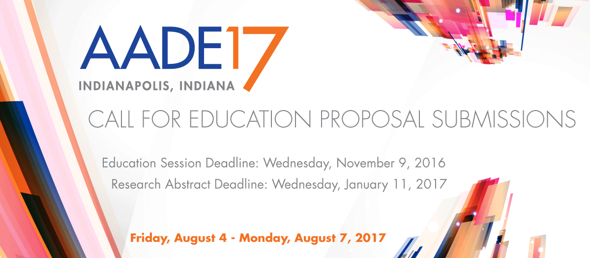 AADE17 Call for Submissions
