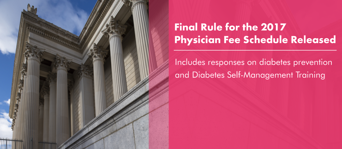 Final Rule for 2017 Physician Fee Schedule