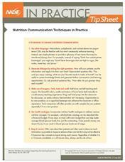 AADE in Practice Tip Sheets