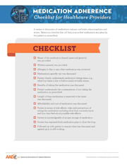 Medication Adherence Checklist