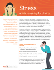 mental health tip sheet - stress