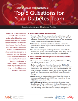 Top 5 Questions for your Diabetes Team