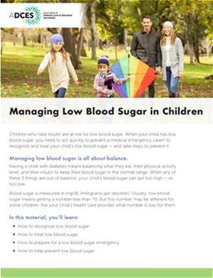 Pediatric Hypoglycemia Tip Sheet