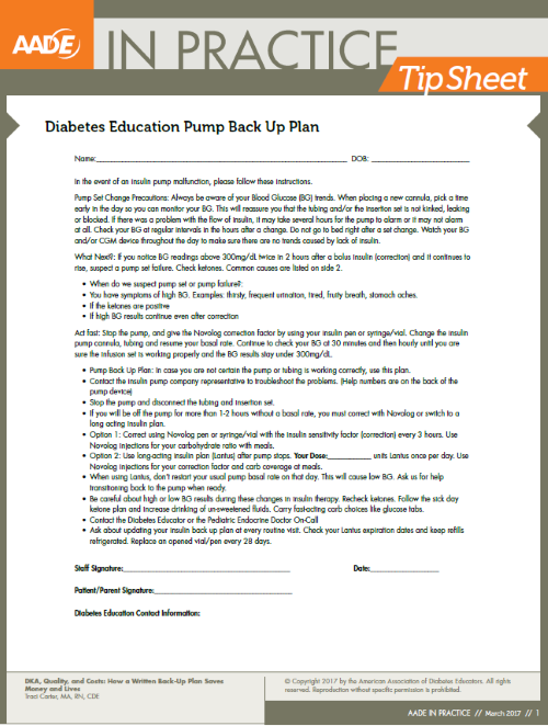 AADE in Practice Tip Sheet