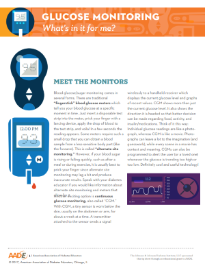 Glucose Monitoring - What's In It for Me