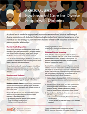 Psychosocial Care for Diverse People with Diabetes