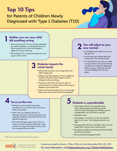 10 tips for parents of a child diagnosed with type 1 diabetes