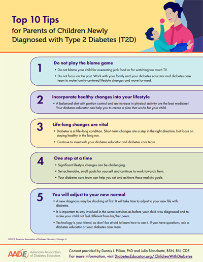 10 tips for parents of a child diagnosed with type 2 diabetes