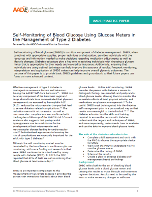SMBG Using Glucose Meters in Management of T2D